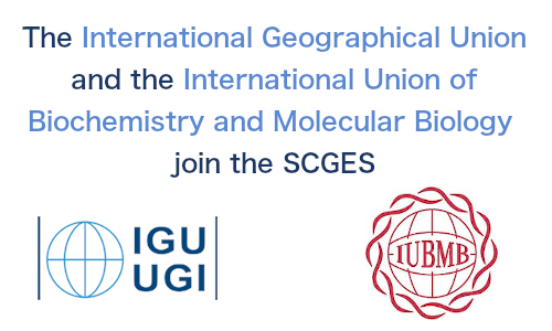 The SCGES expands with the addition of the International Geographical Union and the International Union of Biochemistry and Molecular Biology